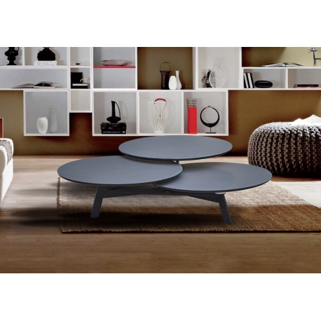 Table Disko Carbone