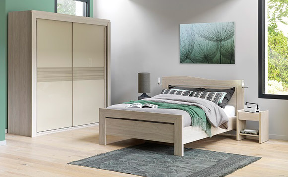 chambre a coucher celio cosy chambres adultes le geant du meuble. Black Bedroom Furniture Sets. Home Design Ideas