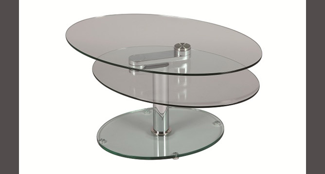 Meubles serre table basse en verre ovale 1212 - Table basse ovale en verre ...