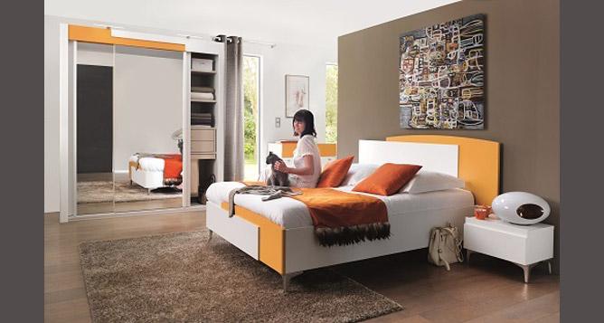 Chambre Adulte Coloree : Chambre a coucher color celio