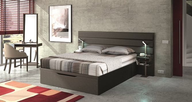 lit coffre pour couchage 140x190 cm max lits et syst mes de lit le geant du meuble. Black Bedroom Furniture Sets. Home Design Ideas