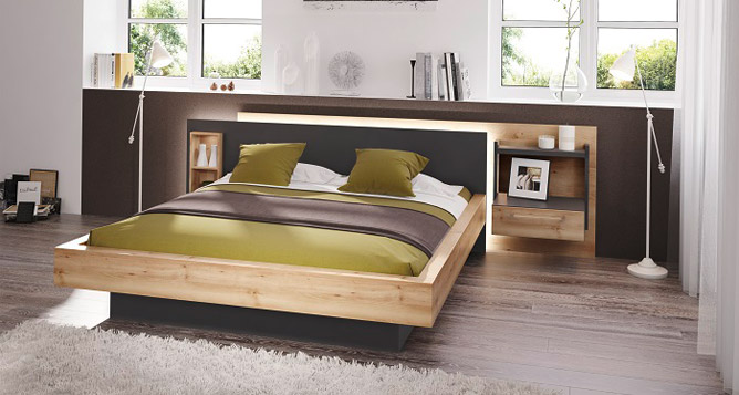 lit moderne lanova lits et syst mes de lit le geant du meuble. Black Bedroom Furniture Sets. Home Design Ideas