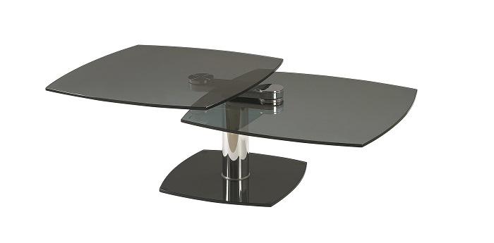 TABLE BASSE CARREE 2 plateaux