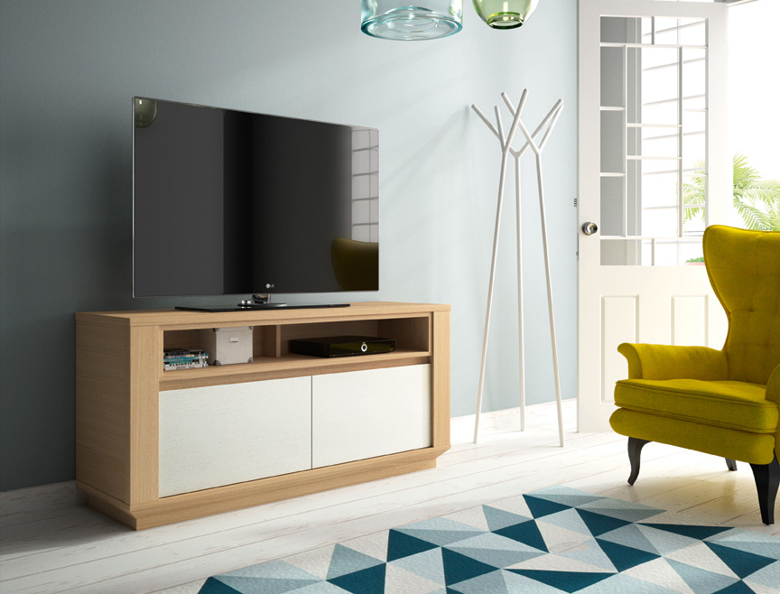 meuble tv ernest lectrifi 2 portes et niche de rangement meubles tv le geant du meuble. Black Bedroom Furniture Sets. Home Design Ideas