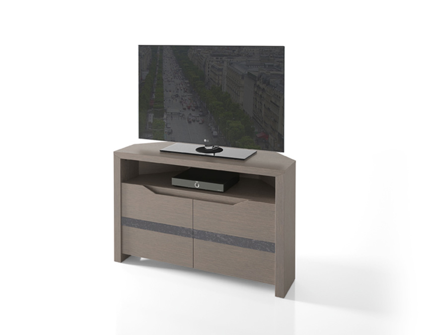 meuble tele d 39 angle ernest avec niche de rangement meubles tv le geant du meuble. Black Bedroom Furniture Sets. Home Design Ideas