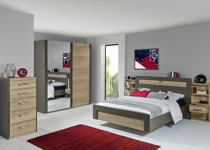 Chambres adultes meubles blachere for Chambre a coucher celio