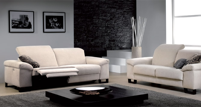 canap 3 places tissu relax lectrique canap s et. Black Bedroom Furniture Sets. Home Design Ideas