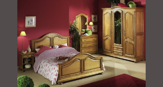 chambre coucher rustique chambres adultes le geant du meuble. Black Bedroom Furniture Sets. Home Design Ideas