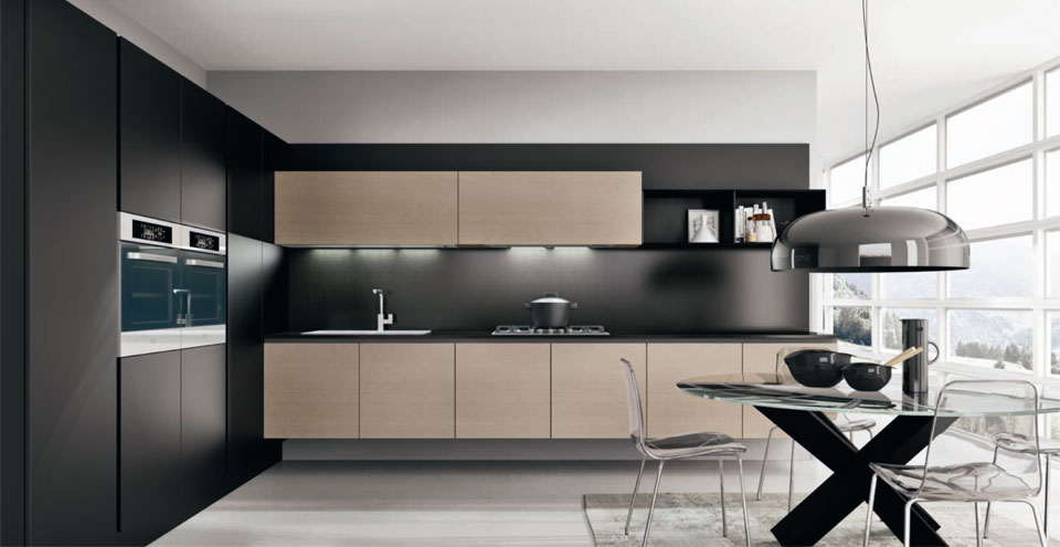 les cuisines monnier. Black Bedroom Furniture Sets. Home Design Ideas